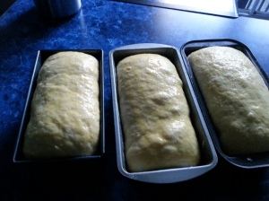 Mom's Eid breads ready for the oven.