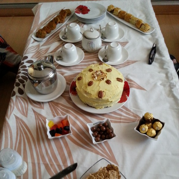 All served at tea time in the lounge on Saturday afternoon.