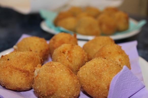 Chicken cutlets, also called spaghetti balls.